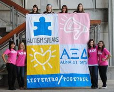 Alpha Xi Delta's for Autism Speaks!