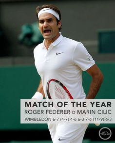 Our match of the year, Roger Federer defeating Marin Cilic in five epic sets.  Followed in a close second by the Djokovic/Delpo match at the Olympics. What was your favourite match - let us know in the comments below