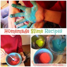 Homemade Slime Recipes For Kids - Little House on the Valley