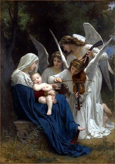 The beginning... Vierge Aux Anges, William Adolphe Bouguereau.