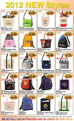 WOW - Inexpensive Assorted Bags!! Order today from Corporate Image Apparel