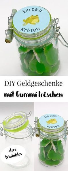 Make money gifts yourself - simple ideas - Geldgeschenke selber machen – einfache Ideen Make money gifts yourself quickly and easily. So you can make DIY money gifts yourself and pack them sweetly. Perfect for wedding or birthday. Pot Mason Diy, Mason Jar Crafts, Mason Jars, Diy Home Decor Projects, Diy Projects To Try, Don D'argent, Wine Bottle Crafts, Diy Gifts, Cash Gifts