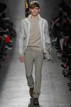 I love white in winter, and this a beautiful combination of white and off-white.  Bottega Veneta | Fall 2014 Menswear Collection | Style.com