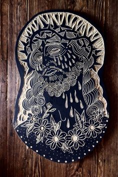 Bryn Perrot: Carved Wood Tattoo Flash