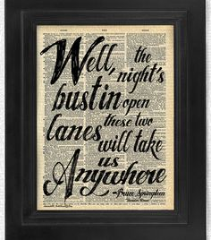 Bruce Springsteen Thunder Road Teil 2. Vers-Zitat  von HelloUwall