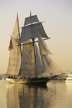 ✮ The Pride Of Baltimore Clipper Ship  my niece has been a cook on this ship.