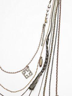 Olive Free People Multicharm Rosary