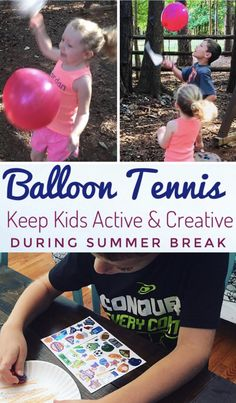 Balloon Tennis - Fun & Easy Activity for All Ages - Glitter On A Dime Summer Activities For Kids, Easy Crafts For Kids, Activities To Do, Toddler Crafts, Games For Kids, Preschool Games, Indoor Activities, Kindergarten Activities, Toddler Play