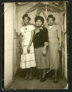 Stoic Black Women in Sunday Go to Meeting Dresses 1930s African American Photo | eBay