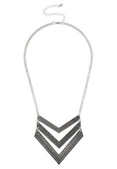 layered chevron necklace (original price, $16) available at #Maurices