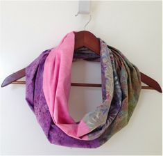 4 fat quarters = infinity scarf                                                                                                                                                                                 More