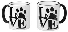 Love Dogs Custom 11 oz Ringer Mug.  Sold by Zazzle 100% Satisfaction Made to Order. http://www.zazzle.com/love_dogs_custom_11_oz_ringer_mug-168912895288353614