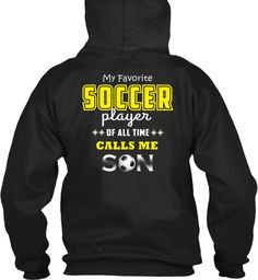 Soccer Black Sweatshirt Back