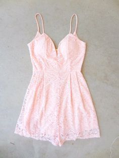 Pink June Lace Romper; I would SO want this if I thought it would look on me... Trust me. It would not.