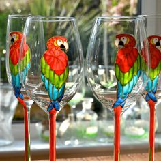 Diy Wine Glasses, Hand Painted Wine Glasses, Wine Glass Crafts, Wine Bottle Crafts, Mosaic Glass, Glass Art, Bottle Painting, Bottle Art, Alcohol Ink Glass