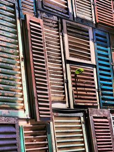 Unique Window Shutter Walls and Ceilings Facade - Potato Head Beach Club Bali Indonesia by neeravbhatt, via Flickr