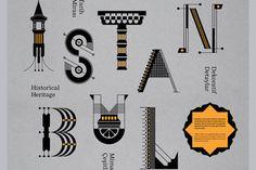 Geray Gencer / Istanbul Deko / hommage en typo à l'architecture stambouliote