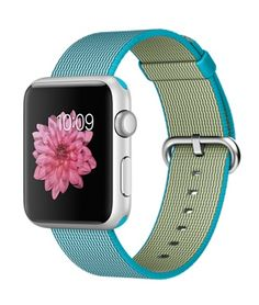 f4421750d2bfb Apple Watch Sport - Silver Aluminum Case with Scuba Blue Woven Band (42mm) -
