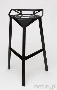 Stołek barowy Gap w kolorze czarnym, Dkwadrat - Meble