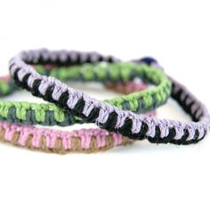 Make these easy macrame bracelets with a bit of cord and a button closure for your friends this summer!