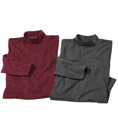 Lot de 2 Sous-Pulls Col Montant #atlasformen #formen #discount #shopping #ootd #outfit #fashion #timeless #instafashion #casual #style #travel #voyage  #winter #hiver