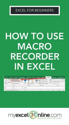 Make sure your Excel ribbon has the Developer Tab enabled following this tutorial. Turn on the Macro Recorder, do the steps, stop the Macro Recorder, run the Macro & bam! Microsoft Excel will repeat the exact same steps you just did! I explain it all in this step by step tutorial from my blog #MyExcelOnline | Microsoft Excel Tips + Tutorials #MSExcel #ExcelFormulas #ExcelTips #MicrosoftExcel #ExcelforBeginners