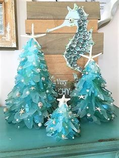 Please note the banners and processing times of the shopHandmade designer medium inch Coastal Christmas Sea Glass Sea Glass Crafts, Sea Glass Art, Seashell Crafts, Beach Crafts, Sea Glass Display, Stained Glass, Sea Glass Decor, Driftwood Crafts, Coastal Christmas Decor