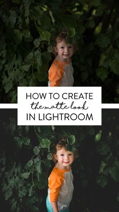 How to create a matte look to your photos in Lightroom. Instantly change the look of your photos with this tool, take a look now: https://www.twoblooms.com/collections/creative-presets/products/recollections