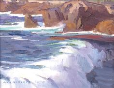 Ray Roberts - Oil Painting For Beginners, Oil Painting Techniques, Landscape Art, Landscape Paintings, Landscapes, Seascape Paintings, Oil Paintings, Beautiful Paintings, Waterfalls