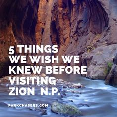 Zion National Park Discover 5 Things We Wish We Knew Before Visiting Zion National Park - Park Chasers There were a few things we missed when we did our pre-trip research about visting Zion National Park Heres our guide for what you need to know. National Park Camping, Us National Parks, Zion National Park Lodging, National Forest, Narrows Zion National Park, Zion Park, Zion Canyon, Grand Canyon, Bryce Canyon