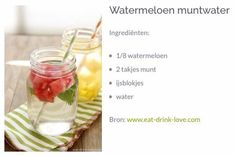 Watermeloen muntwater