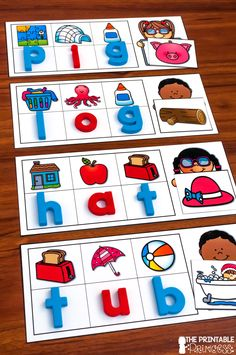 This secret code activity will get your little investigators spelling CVC words by identifying the beginning sound of each picture to spell the word. Phonics Reading, Teaching Phonics, Teaching Reading, Kindergarten Centers, Kindergarten Classroom, Alphabet Activities, Kindergarten Activities, Literacy Stations, Literacy Centers
