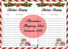 Free Printable - Christmas Shopping List