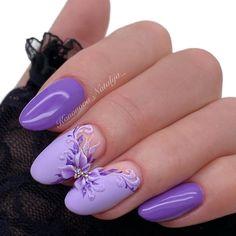 Amazingly Nail Designs for 2020 - isishweshwe Marble Nail Designs, Cool Nail Designs, Coffin Press On Nails, Bad Nails, Manicure, Nail Techniques, Lavender Nails, Animal Nail Art, Crystal Nails