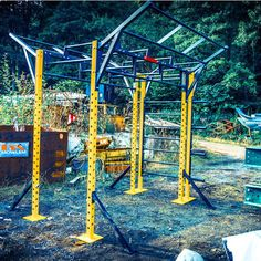 cross fit pull up bar - Google Search Garden Gym Ideas, Pull Up Bar, Crossfit, Outdoor Structures, Google Search