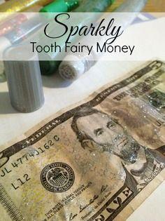 The Tooth Fairy came and left Sparkly Money!   via Making-More.com