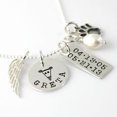 Simply Charming Greyhound Tribute Necklace by Punky Jane- such a sweet way to remember them by.