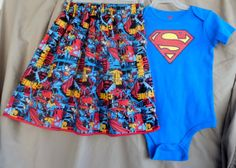 Superman GIRLS size 24 month onesie with by LaLaLandGirlystuff, $22.50