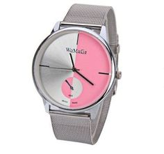 Womage Creative Two Tone Silver Watches