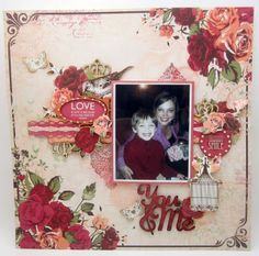 #KaiseCraft , Lady Rose Collection, layout created by lori Williams for KaiserCraft's Design Team.