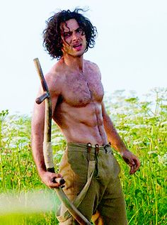 Pin for Later: 18 Supersexy GIFs of Irish Actor Aidan Turner That Will Leave You Gasping For Breath When You Have to Ask Someone Else to Come Up With a Joke About Aidan Turner's Abs For You Because This GIF Fries Your Brain