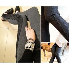 Cheap leggings kid, Buy Quality legging thermal directly from China legging manufacturers Suppliers: Fashion leggings lace Warm newLeggings patchwork winter boot pants pencil lady's trousers casualfree shippi
