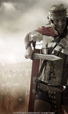 Roman soldier attacks © CollaborationJS / Arcangel Images Ancient Rome, Ancient Greece, Ancient History, Imperial Legion, Roman Kings, Roman Sword, Roman Legion, Medieval World, Roman Soldiers