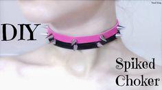 DIY Spiked Choker/Collar | Pastel Goth