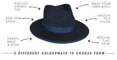 The Barton Fedora by Ace of Something Aw17, It Is Finished, Band, Collection, Bands
