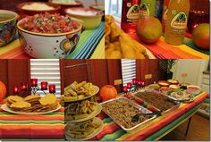 Hostess with the Mostess® - Mexican Fiesta Engagement Party Mexican Fiesta Party, Fiesta Theme Party, Taco Party, Mexico Party, Sunshine Birthday Parties, Mexican Buffet, Party Entertainment, Party Planning, Party Time