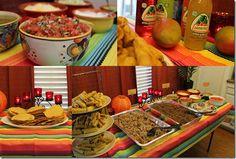 Mexican Fiesta Theme Party! Taco Bar