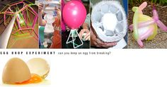 Design and technology project- create a structure to protect an egg if you drop it. A fun last day of school activity