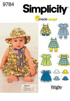 Baby Patterns - Simplicity Babies Dresses Pattern