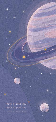 Planets Wallpaper, Soft Wallpaper, Wallpaper Space, Homescreen Wallpaper, Anime Scenery Wallpaper, Iphone Background Wallpaper, Cute Anime Wallpaper, Cute Cartoon Wallpapers, Pretty Wallpapers